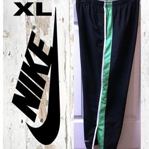 Nike Track Pants Green/White Stripe